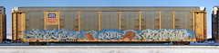 Rue/Plan2 (quiet-silence) Tags: graffiti graff freight fr8 train railroad railcar art rue plan plan2 autorack up unionpacific ttgx994284