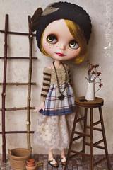 Mori style set (Stiletto Queen) Tags: blythe nickylad katjuss mori tunic skirt beanie