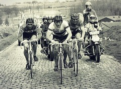 1977 TOUR OF FLANDERS The Big Champs (Sallanches 1964) Tags: tourofflanders 1977 eddymerckx freddymaertens rogerdevlaeminck roadcycling cobblestones monumentsofcycling classicmonumentrace belgiancyclists worldchampionroadcycling