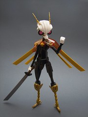 Admiral De Thysania (Djokson) Tags: moth bug insect alien creature captain naval military gold sword wings white black space pirate djokson lego moc toy model bionicle