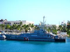 Ready to Fight Pirates (knightbefore_99) Tags: mexico mexican isla mujeres azul blue sea ocean caribbean quintanaroo boat ship warship uxmal guardia costera navy cool pirate