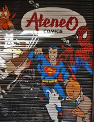 Comic Shop in Alicante (roomman) Tags: 2018 alicante city downtown town spain shop shops house houses out street facade ateneo comic comics graphic novel graphicnovel book books nice design art tintin darth vader tin tim struppi spiderman superman darthvader figure character characters