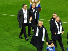 Claudio Ranieri waves to the fans (lcfcian1) Tags: leicester city burnley king power stadium lcfc bfc epl bpl premier league leicestercity burnleyfc leicestervburnley kingpowerstadium sport england stadia premierleague claudioranieri craigshakespeare nigelpearson alanbirchenall