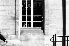 p a r i s  d a n s  l a  r u e (Gaia Rampon) Tags: throughthewindow shadow light wintersun catchthemoment streetphotography streetphotographer blancetnoir noiretblanc white black blackandwhite ruesainthonore paris france nikkor nikon 35mm street bnw cafe candid monocrome