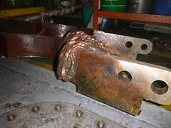 Resize of P1360525 (OpalStream) Tags: rudder marine vessel repair works overhauling workshop measurements filler gauge dirt