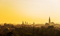 Golden mornings (Pan.Ioan) Tags: city cityscape citylife outdoors morning outdoor sunrise orange tower church town travel medieval old history romania transylvania