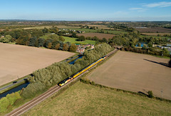 67023 and 67027 approaching Barrow on Trent (robmcrorie) Tags: 67023 67027 barrow trent derbyshire colas test train class 67 phantom 4