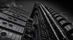 Lloyds (cliveg004) Tags: lloydsoflondon cityoflondon city london lloyds bowellism architecture steel chemicalworks lights bwblackandwhite monochrome mono selectivecolour modernism building ribaaward challengegamewinner