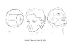 How to Draw the Head from Any Angle - Loomis Method (fineart-tips) Tags: art drawing finearttips sketches head face andrewloomis woman man tutorial artistleonardo leonardopereznieto patreon tutto3