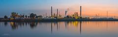 Dintelhaven (Peet de Rouw) Tags: bp refinery sunset dusk twilight panorama peetderouw denachtdienst canon5dmarkiv