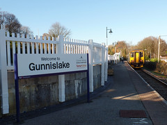 150202 Gunnislake (1) (Marky7890) Tags: gwr 150202 class150 sprinter 2p87 gunnislake railway cornwall tamarvalleyline train