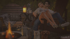 Photo Bomb Moment With Our Family (larisalyn (Rachel)) Tags: cat dog penguin secondlife fire couple love romance romantic otter jian mutrese tlc coffee hotchocalte lantern campfire marshmellow