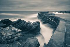 Collieston Harbour (Derek Coull) Tags: collieston harbour longexposure aberdeenshire seascape 10stop architecture coastal rocks scotland samsungnx500