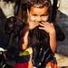 Child Holding Baby Goat, Uttar Pradesh India