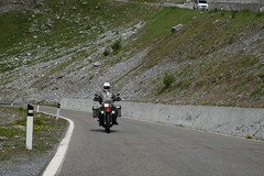 Stelvio stalking (Dominic Sagar) Tags: 2017 adriatic alps andrewmacbeanpeters europe t100 t150 motorcycle pass road bormio lombardia italy it