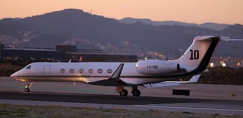 Leo Messi  / Gulfstream V / LV-IRQ