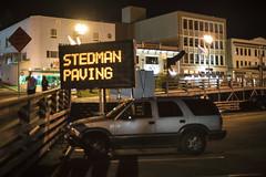 Stedman Paving (Curtis Gregory Perry) Tags: ketchikan alaska stedman paving sign construction chevy chevrolet blazer car suv truck night longexposure parking lot nikon d810 50mm f12 automóvil coche carro vehículo مركبة veículo fahrzeug automobil