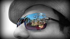 Time for some reflection.... (Anuradha Nautiyal) Tags: chennai reflection sun sunglasses shades selective colouring partial iphone7 phonephotography tamilnadu india