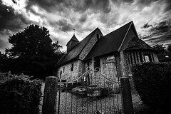 """moody fine art black and white view of 11th century Chapelle Saint-Martin de Carbec, near Fatouville-Grestain, Eure, Normandie, France (grumpybaldprof) Tags: """"sentierdelancienphare"""" walk promenade """"eglisesaintmartin"""" """"fatouvillegrestain"""" """"chateaudelapommeraye"""" """"seineestuary"""" """"ancienphare"""" """"chapelledecarbec"""" """"chapellesaintmartindecarbec"""" """"11thcentury"""" """"lavoirdecarbec"""" """"mared'inglemare"""" """"croixd'inglemare"""" panorama """"l'estuaredelaseine"""" """"12thcentury"""" farmland farms animals birds insects plants woods trees """"sainteappolline"""" eure normandy france chapel church mood atmosphere moody bw blackwhite """"blackwhite"""" """"blackandwhite"""" noireetblanc monochrome """"fineart"""" ethereal striking artistic interpretation impressionist stylistic style contrast shadow bright dark black white illuminated canon 70d """"canon70d"""" sigma 1020 1020mm f456 """"sigma1020mmf456dchsm"""" """"wideangle"""" ultrawide"""
