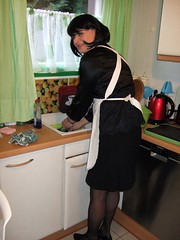 Maid Marie (Marie-Christine.TV) Tags: feminine transvestite lady mariechristine frenchmaid maid mädchen küchemnädchen schürze apron blouse bluse abwasch tgirl tgutl sexy