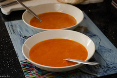 Perfect For A Cold Day!! (BGDL) Tags: lightroomcc nikkor55200mmf4556g bgdl odc nikond7000 kitchen bowlsandspoons homemade tomatosoup perfectforacoldday