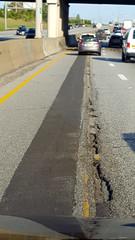 Highway pavement - Ohio (SomePhotosTakenByMe) Tags: highway pavement asphaltierung auto car ontheroad usa america amerika unitedstates ohio cleveland pothole schlagloch strasenschäden roaddamage