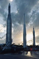 Kennedy Space Center sunset (Florida). (stevelamb007) Tags: spaceships kennedyspacecenter florida clouds sunset sundown rocketships rockets d7200 nikon stevelamb