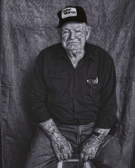 Hard Workin' Man (Dreaming Diva) Tags: work farming outdoor blackandwhite portrait american blessed father grandfather family studio olympus bw hands journey life loved auctioneer
