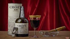 Croft and Per Domo Reserve (MBates Foto) Tags: bottle cigar color glass goblet gold indoors nikkorlens nikon nikond810 nikonfx port studio tobacco tabletop wineandspirits spokane washington unitedstates 99203