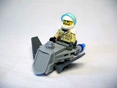 Civilian Speeder (awpulley) Tags: lego moc creation space scifi civilian speeder spaceship craft antique retro steampunk