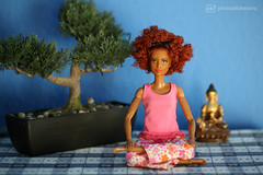 morning meditation (photos4dreams) Tags: barbie regularlifeinthedollhouse doll photos4dreams p4d photos4dreamz toy puppe dress mattel barbies girl play fashion fashionistas outfit kleider mode puppenstube tabletopphotography aa ken africanamerican canoneos5dmark3