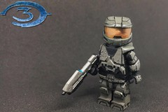The Master Chief (TheBrickBrewer) Tags: lego sculpted paints painted custom sgtdude masterchief 117 spartan chief master 3 three halo3 lego's halo