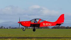 G-FLYJ Eurostar, Scone (wwshack) Tags: egpt psl perth perthairport perthshire scone sconeairport scotland scottishaeroclub eurostar gflyj