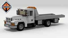International 4000 Tow Truck (LegoGuyTom) Tags: international 4000 tow truck trucks transporter classic vintage 1980s 1990s american america lego legos ldd legodigitaldesigner designer digital legocity city car cars lxf dropbox download pov povray