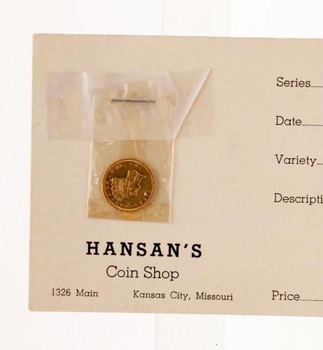 1856 U.S. Indian Princess $1 Gold Coin (257.60)