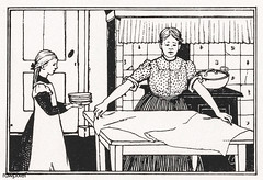 Mom and daughter doing housework by Julie de Graag (1877-1924). Original from The Rijksmuseum. Digitally enhanced by rawpixel (Free Public Domain Illustrations by rawpixel) Tags: antique artwork character child choose daughter dining diningroom dinner drawing female girl handdrawn home house housework illustrated illustration juliedegraag kid kitchen mom mother old pdrijks preparing publicdomain rijksmuseum routine sketch tablesetting vintage woman woodcut