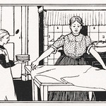 Mom and daughter doing housework by Julie de Graag (1877-1924). Original from The Rijksmuseum. Digitally enhanced by rawpixel thumbnail
