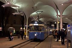 P-Zug 2006/3004 in der Wendeschleife an der Münchner Freiheit (Frederik Buchleitner) Tags: 2006 3004 linie23 munich münchen pwagen strasenbahn streetcar tram trambahn