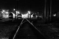 Night train (cachalo60) Tags: noiretblanc nb canon6d canon beauvais gare train night architecture