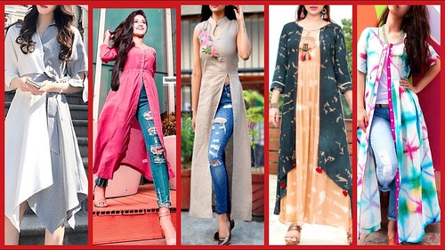 Stylish Gown Style Open Shirts Designs 2018 2019 Latest Fashion Trends A Photo On Flickriver