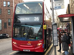 *Uncommon Working* HCT Group's first ever hybrid on the 26 | CT Plus Enviro 400H (SN62DND) heading to Hackney Wick. (alexpeak24) Tags: hackneywick waterloo london sn62dnd enviro400h alexanderdennis ctplus