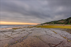 Wonder if the reef creatures say Good Morning (JustAddVignette) Tags: australia clouds cloudysunrise collaroy dark firstlight headland landscapes longreef lowtide newsouthwales northernbeaches ocean reef reflections rocks sand seascape seawater sky sydney water