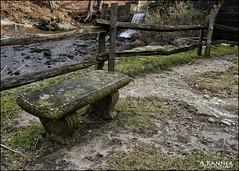 Happy Bench Monday... (angelakanner) Tags: sonynex6 happybenchmonday stone bench fence water wood longisland stonybrook
