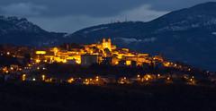 San Valentino in Abruzzo Citeriore (Maria Teresa D) Tags: abruzzo italy paesaggi campanile luci luna sanvalentinoinac nuvole natura borghipiùbelliditalia borgopaese