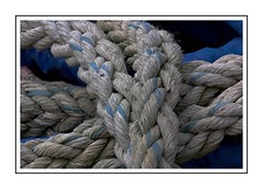 Blue running through (Audrey A Jackson) Tags: canon60d bamburgh northumberland rope blue