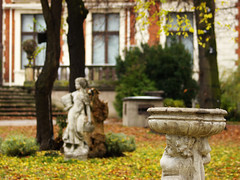 in a park (Darek Drapala) Tags: panasonic poland polska panasonicg5 park plants sculpture palace warsaw warszawa autumn yellow nature lumix light old oldtown color