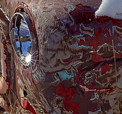 badHangover (blancopix) Tags: old car abstract junk decay rust colorful