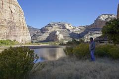 A Fine Morning (Jeff Mitton) Tags: echopark dinosaurnationalmonument colorado greenriver river canyon yampariver rabbitbrush