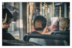 Heads on a Bus (yoyomaoz) Tags: petermaynard lifeinshadows adelaide streetlife nikond70s nikkor50mmf18 processedwithnikcollection experimentsintexture