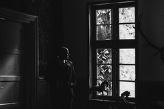 Mike (Yuliya Bahr) Tags: man men portrait backlight silhouette wedding groom window dark black